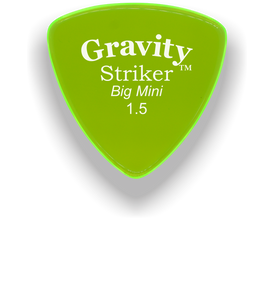 Striker Big Mini 1.5mm Fluorescent Green Acrylic Guitar Pick Handmade Custom Best Acoustic Mandolin Electric Ukulele Bass Plectrum Bright Loud Faster Speed