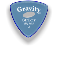 Load image into Gallery viewer, Striker Big Mini 2.0mm Blue Elipse Grip Acrylic Guitar Pick Handmade Custom Best Acoustic Mandolin Electric Ukulele Bass Plectrum Bright Loud Faster Speed