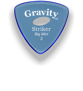 Striker Big Mini 2.0mm Blue Elipse Grip Acrylic Guitar Pick Handmade Custom Best Acoustic Mandolin Electric Ukulele Bass Plectrum Bright Loud Faster Speed