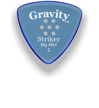 Load image into Gallery viewer, Striker Big Mini 2.0mm Blue Multi-Hole Grip Acrylic Guitar Pick Handmade Custom Best Acoustic Mandolin Electric Ukulele Bass Plectrum Bright Loud Faster Speed