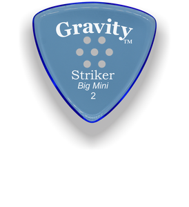 Striker Big Mini 2.0mm Blue Multi-Hole Grip Acrylic Guitar Pick Handmade Custom Best Acoustic Mandolin Electric Ukulele Bass Plectrum Bright Loud Faster Speed