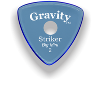 Load image into Gallery viewer, Striker Big Mini 2.0mm Blue Single Round Grip Acrylic Guitar Pick Handmade Custom Best Acoustic Mandolin Electric Ukulele Bass Plectrum Bright Loud Faster Speed