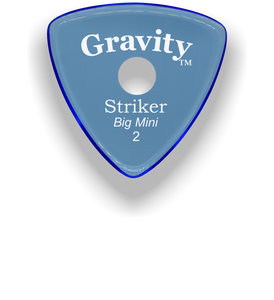 Striker Big Mini 2.0mm Blue Single Round Grip Acrylic Guitar Pick Handmade Custom Best Acoustic Mandolin Electric Ukulele Bass Plectrum Bright Loud Faster Speed