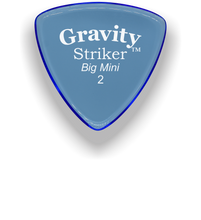 Load image into Gallery viewer, Striker Big Mini 2.0mm Blue Acrylic Guitar Pick Handmade Custom Best Acoustic Mandolin Electric Ukulele Bass Plectrum Bright Loud Faster Speed