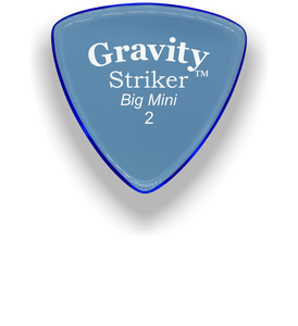 Striker Big Mini 2.0mm Blue Acrylic Guitar Pick Handmade Custom Best Acoustic Mandolin Electric Ukulele Bass Plectrum Bright Loud Faster Speed