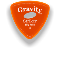 Load image into Gallery viewer, Striker Big Mini 3.0mm Orange Elipse Grip Acrylic Guitar Pick Handmade Custom Best Acoustic Mandolin Electric Ukulele Bass Plectrum Bright Loud Faster Speed