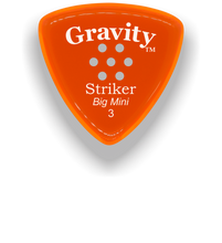 Load image into Gallery viewer, Striker Big Mini 3.0mm Orange Multi-Hole Grip Acrylic Guitar Pick Handmade Custom Best Acoustic Mandolin Electric Ukulele Bass Plectrum Bright Loud Faster Speed