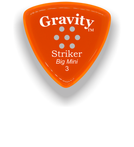 Striker Big Mini 3.0mm Orange Multi-Hole Grip Acrylic Guitar Pick Handmade Custom Best Acoustic Mandolin Electric Ukulele Bass Plectrum Bright Loud Faster Speed