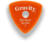Load image into Gallery viewer, Striker Big Mini 3.0mm Orange Single Round Grip Acrylic Guitar Pick Handmade Custom Best Acoustic Mandolin Electric Ukulele Bass Plectrum Bright Loud Faster Speed