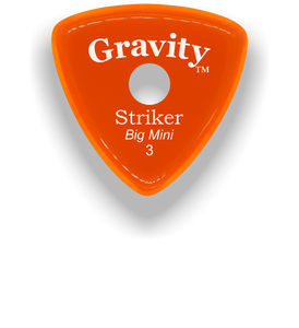 Striker Big Mini 3.0mm Orange Single Round Grip Acrylic Guitar Pick Handmade Custom Best Acoustic Mandolin Electric Ukulele Bass Plectrum Bright Loud Faster Speed