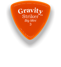 Load image into Gallery viewer, Striker Big Mini 3.0mm Orange Acrylic Guitar Pick Handmade Custom Best Acoustic Mandolin Electric Ukulele Bass Plectrum Bright Loud Faster Speed