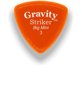 Striker Big Mini 3.0mm Orange Acrylic Guitar Pick Handmade Custom Best Acoustic Mandolin Electric Ukulele Bass Plectrum Bright Loud Faster Speed