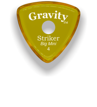Load image into Gallery viewer, Striker Big Mini 4.0mm Yellow Single Round Grip Acrylic Guitar Pick Handmade Custom Best Acoustic Mandolin Electric Ukulele Bass Plectrum Bright Loud Faster Speed