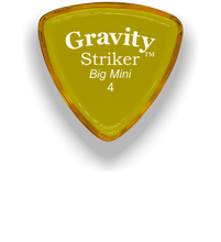 Load image into Gallery viewer, Striker Big Mini 4.0mm Yellow Acrylic Guitar Pick Handmade Custom Best Acoustic Mandolin Electric Ukulele Bass Plectrum Bright Loud Faster Speed