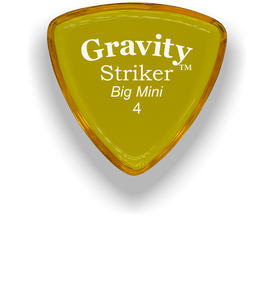 Striker Big Mini 4.0mm Yellow Acrylic Guitar Pick Handmade Custom Best Acoustic Mandolin Electric Ukulele Bass Plectrum Bright Loud Faster Speed