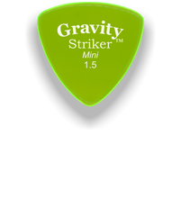 Load image into Gallery viewer, Striker Mini 1.5mm Fluorescent Green Acrylic Guitar Pick Handmade Custom Best Acoustic Mandolin Electric Ukulele Bass Plectrum Bright Loud Faster Speed