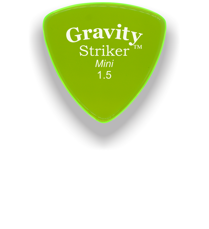 Striker Mini 1.5mm Fluorescent Green Acrylic Guitar Pick Handmade Custom Best Acoustic Mandolin Electric Ukulele Bass Plectrum Bright Loud Faster Speed