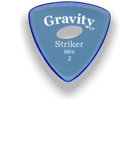 Load image into Gallery viewer, Striker Mini 2.0mm Blue Elipse Grip Acrylic Guitar Pick Handmade Custom Best Acoustic Mandolin Electric Ukulele Bass Plectrum Bright Loud Faster Speed