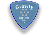 Load image into Gallery viewer, Striker Mini 2.0mm Blue Multi-Hole Grip Acrylic Guitar Pick Handmade Custom Best Acoustic Mandolin Electric Ukulele Bass Plectrum Bright Loud Faster Speed