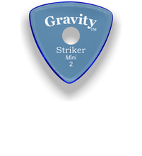 Load image into Gallery viewer, Striker Mini 2.0mm Blue Single Round Grip Acrylic Guitar Pick Handmade Custom Best Acoustic Mandolin Electric Ukulele Bass Plectrum Bright Loud Faster Speed