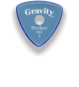 Striker Mini 2.0mm Blue Single Round Grip Acrylic Guitar Pick Handmade Custom Best Acoustic Mandolin Electric Ukulele Bass Plectrum Bright Loud Faster Speed