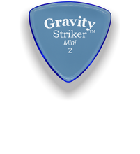 Load image into Gallery viewer, Striker Mini 2.0mm Blue Acrylic Guitar Pick Handmade Custom Best Acoustic Mandolin Electric Ukulele Bass Plectrum Bright Loud Faster Speed