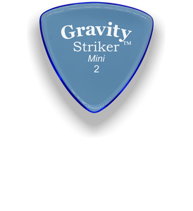 Striker Mini 2.0mm Blue Acrylic Guitar Pick Handmade Custom Best Acoustic Mandolin Electric Ukulele Bass Plectrum Bright Loud Faster Speed