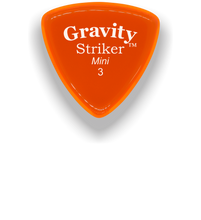 Load image into Gallery viewer, Striker Mini 3.0mm Orange Acrylic Guitar Pick Handmade Custom Best Acoustic Mandolin Electric Ukulele Bass Plectrum Bright Loud Faster Speed