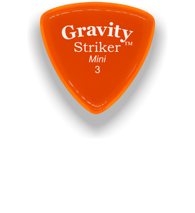 Striker Mini 3.0mm Orange Acrylic Guitar Pick Handmade Custom Best Acoustic Mandolin Electric Ukulele Bass Plectrum Bright Loud Faster Speed
