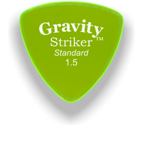 Load image into Gallery viewer, Striker Standard 1.5mm Fluorescent Green Acrylic Guitar Pick Handmade Custom Best Acoustic Mandolin Electric Ukulele Bass Plectrum Bright Loud Faster Speed