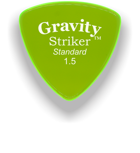 Striker Standard 1.5mm Fluorescent Green Acrylic Guitar Pick Handmade Custom Best Acoustic Mandolin Electric Ukulele Bass Plectrum Bright Loud Faster Speed