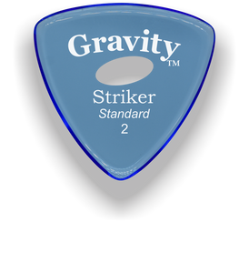 Striker Standard 2.0mm Blue Elipse Grip Acrylic Guitar Pick Handmade Custom Best Acoustic Mandolin Electric Ukulele Bass Plectrum Bright Loud Faster Speed