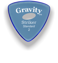 Load image into Gallery viewer, Striker Standard 2.0mm Blue Elipse Grip Acrylic Guitar Pick Handmade Custom Best Acoustic Mandolin Electric Ukulele Bass Plectrum Bright Loud Faster Speed
