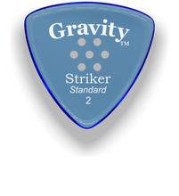 Load image into Gallery viewer, Striker Standard 2.0mm Blue Multi-Hole Grip Acrylic Guitar Pick Handmade Custom Best Acoustic Mandolin Electric Ukulele Bass Plectrum Bright Loud Faster Speed