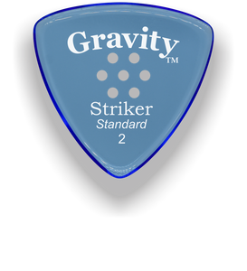 Striker Standard 2.0mm Blue Multi-Hole Grip Acrylic Guitar Pick Handmade Custom Best Acoustic Mandolin Electric Ukulele Bass Plectrum Bright Loud Faster Speed