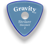 Load image into Gallery viewer, Striker Standard 2.0mm Blue Single Round Grip Acrylic Guitar Pick Handmade Custom Best Acoustic Mandolin Electric Ukulele Bass Plectrum Bright Loud Faster Speed