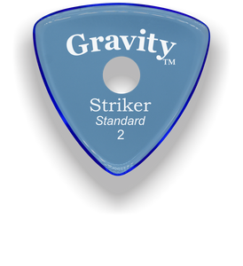Striker Standard 2.0mm Blue Single Round Grip Acrylic Guitar Pick Handmade Custom Best Acoustic Mandolin Electric Ukulele Bass Plectrum Bright Loud Faster Speed