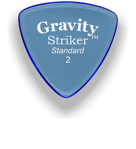 Striker Standard 2.0mm Blue Acrylic Guitar Pick Handmade Custom Best Acoustic Mandolin Electric Ukulele Bass Plectrum Bright Loud Faster Speed