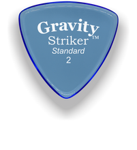 Load image into Gallery viewer, Striker Standard 2.0mm Blue Acrylic Guitar Pick Handmade Custom Best Acoustic Mandolin Electric Ukulele Bass Plectrum Bright Loud Faster Speed