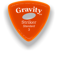 Load image into Gallery viewer, Striker Standard 3.0mm Orange Elipse Grip Acrylic Guitar Pick Handmade Custom Best Acoustic Mandolin Electric Ukulele Bass Plectrum Bright Loud Faster Speed