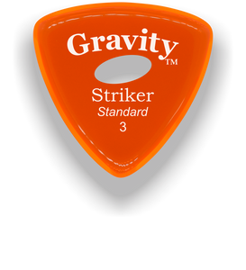 Striker Standard 3.0mm Orange Elipse Grip Acrylic Guitar Pick Handmade Custom Best Acoustic Mandolin Electric Ukulele Bass Plectrum Bright Loud Faster Speed