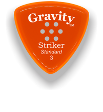 Load image into Gallery viewer, Striker Standard 3.0mm Orange Multi-Hole Grip Acrylic Guitar Pick Handmade Custom Best Acoustic Mandolin Electric Ukulele Bass Plectrum Bright Loud Faster Speed