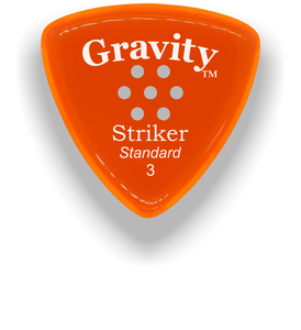 Striker Standard 3.0mm Orange Multi-Hole Grip Acrylic Guitar Pick Handmade Custom Best Acoustic Mandolin Electric Ukulele Bass Plectrum Bright Loud Faster Speed