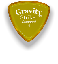 Load image into Gallery viewer, Striker Standard 4.0mm Yellow Acrylic Guitar Pick Handmade Custom Best Acoustic Mandolin Electric Ukulele Bass Plectrum Bright Loud Faster Speed