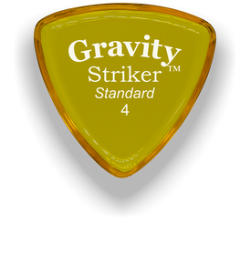 Striker Standard 4.0mm Yellow Acrylic Guitar Pick Handmade Custom Best Acoustic Mandolin Electric Ukulele Bass Plectrum Bright Loud Faster Speed