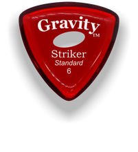 Load image into Gallery viewer, Striker Standard 6.0mm Red Elipse Grip Acrylic Guitar Pick Handmade Custom Best Acoustic Mandolin Electric Ukulele Bass Plectrum Bright Loud Faster Speed