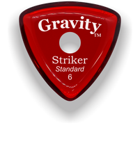 Load image into Gallery viewer, Striker Standard 6.0mm Red Single Round Grip Acrylic Guitar Pick Handmade Custom Best Acoustic Mandolin Electric Ukulele Bass Plectrum Bright Loud Faster Speed
