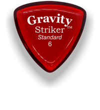 Load image into Gallery viewer, Striker Standard 6.0mm Red Acrylic Guitar Pick Handmade Custom Best Acoustic Mandolin Electric Ukulele Bass Plectrum Bright Loud Faster Speed
