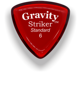 Striker Standard 6.0mm Red Acrylic Guitar Pick Handmade Custom Best Acoustic Mandolin Electric Ukulele Bass Plectrum Bright Loud Faster Speed