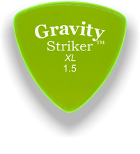 Load image into Gallery viewer, Striker XL 1.5mm Fluorescent Green Acrylic Guitar Pick Handmade Custom Best Acoustic Mandolin Electric Ukulele Bass Plectrum Bright Loud Faster Speed